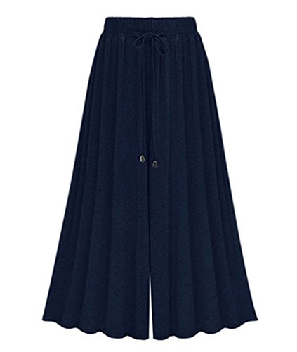 Yilianda donna taglie forti pantaloni harem donna lunghezza elasticizzato pantaloni casual blu 6xl