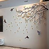 FOMBV Adesivo da Parete Autoadesivo Acrilico della Parete di Progettazione dell'albero Verde Adesivi della Decorazione della Parete del sofà del Fondo della TV 3D Decorazione di Roma