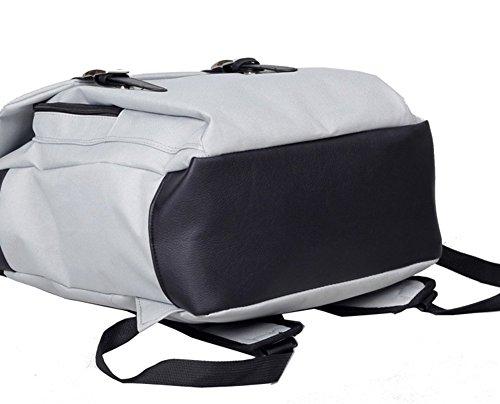 Drasawee , Damen Rucksackhandtasche Lila violett 30*13*41cm grau