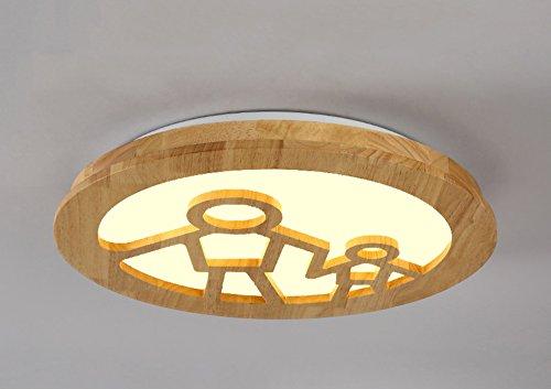 Plafonnier Peaceip Personnalité Créative Luminaire en Bois Massif Lumière Lumière pour Chambre à Coucher, Salon, Salle des Enfants, Couloir, allée (lumière Neutre) (Couleur : People)