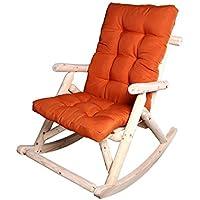 YIXINY Reclinables Cómoda Mecedora Abeto Chino Estera Naranja Color De Madera 66 * 96 * 98cm Seiko Pulido