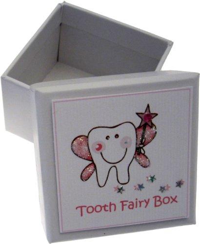 White Cotton Cards Zahnfee-Box, englische Aufschrift, für Mädchen, Rosa -