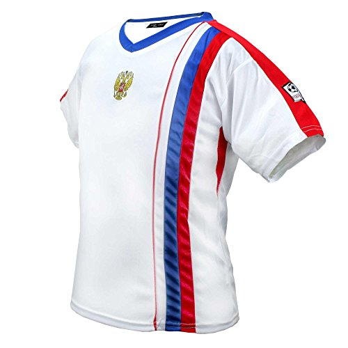 MC-Trend Russland Russia Russie Rosja Rusland Trikot mit Mesh-Einsätzen, UNISEX, Gr. XS