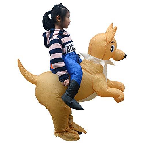LTSWEET Aufblasbare Hund Kostüm Kinder Weihnachten Fasching Karneval Cosplay Party Outfit Fancy Dress Park Neuheit Spielzeug Geeignet für 90-145 (Bier Kann Hunde Kostüm)