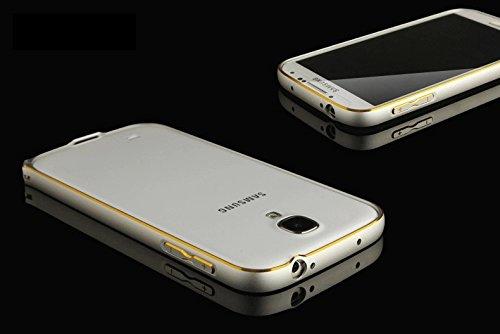 SDO Luxury Dual Tone Arc Edge Screwless Metal Bumper Case Cover for Samsung Galaxy S4 i9500 (Silver)