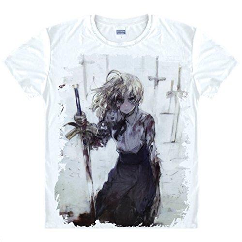 Kostüm Pendragon - Bromeo Fate Zero Fate/stay Night Anime Kostüm Short Sleeves Kurze Ärmel Tee T-Shirt