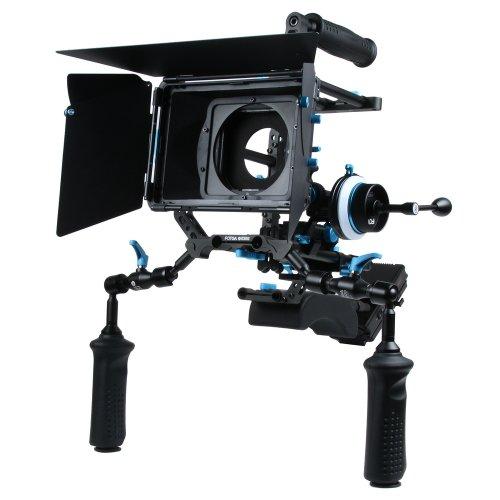 Fotga DP Series professionelle DSLR-Rig Set Film-Kit Film Making-System Follow Focus + Matte Box + Top Handle + 15mm Schienen-Rod-Trägerplatte + Peitsche + Frontgriff + C- Bracket + Power Supply System, die beste Wahl für DIY Ihre Rig Set, Verkauft nach Hersteller direkt. (M1 rig set) -