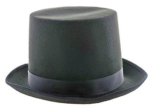Hoher Zylinder für Herren - Schwarz - Eleganter Hut zum Kostüm als Magier Vampir 20er 30er - Tag Der Toten Für Erwachsene Standard Kostüm