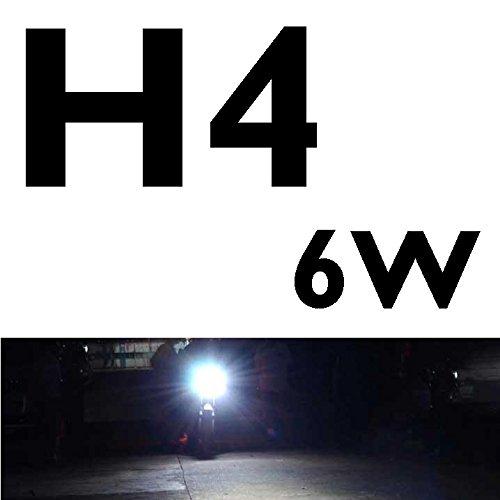 CICMOD Bombilla de Faro para Motocicletas, H4 Hi/Lo LED Lámpara, 6W 800LM 6500K Blanco