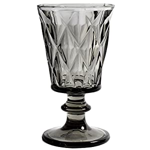 Nordal - Diamond - Rotweinglas, Weinglas, Weinkelch - Glas - Farbe: Smoke - mit schönen facetten