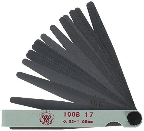 17-in-1 Fühlerlehrenmesser, 0,02 - 1 mm, Hilfswerkzeug