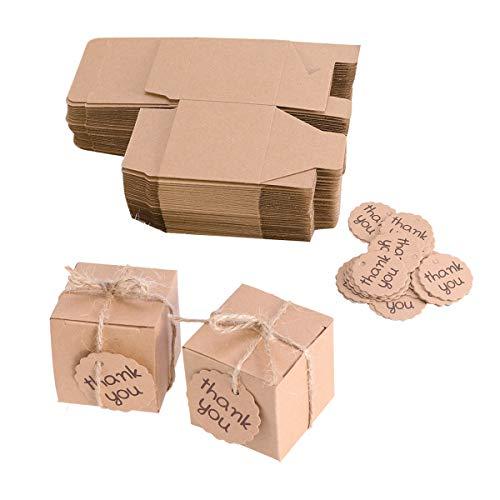 anke Karte Süßigkeitskästen Kraftpapier Verpackung Geschenk Leckereien Goodies Boxen Party Supplies (Platz) ()
