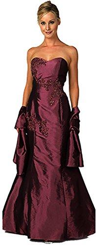 Abendkleid Meerjungfrau Ballkleid Abiballkleid Brautjungfernkleid Hochzeitsgast Mermaid-Kleid Taft