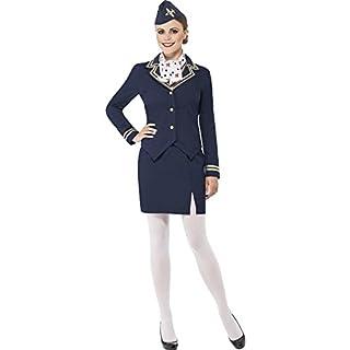 Smiffys Damen Kostüm Flugbegleiterin Stewardess Karneval Fasching Größe XL