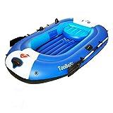 SHZJ Kayak Inflable para 4 Personas, Accesorios para Kayak, Paletas, Carros Portaequipajes, Cubiertas, Correas De Correa De Ancla, Bomba De Mar, Kit De Pesca, Guantes De Varilla