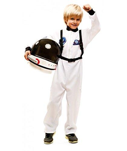 Partychimp 83-02083 - Astronaut, Kinderkostüm, 5-6 Jahre, weiß (Für Astronauten-helm Kinder)