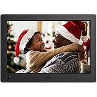 NIX Advance Digitaler Bilderrahmen 8 Zoll Breitbild X08G. IPS Display für Fotos & Videos. Elektronischer Fotorahmen mit Uhr/Kalender-Funktion. Auto On/Off (Bewegungssensor). Inkl. Fernbedienung