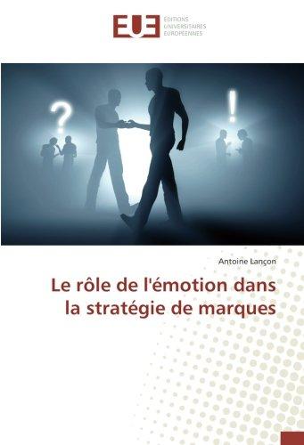 Le rôle de l'émotion dans la stratégie de marques par Antoine Lançon