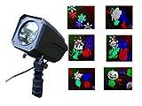 LED Weihnachten Strahler Weihnachts Beleuchtung Draußen Bunter Strahler Projektor Beleuchtung Lichteffekt Garten RC Mit 6 Motive: Halloween, Weihnachten, Blätter, Schmetterlinge, Schneeflocken, Ostern