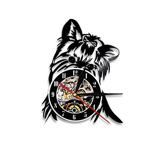 Menddy Yorkshire Terrier Hund Silhouette Led Licht Hintergrundbeleuchtung Nachtlicht Wandleuchte Tiere Wanduhr Geschenk Für Hundeliebhaber Keine Led Licht 12 Zoll - Yorkshire 3 Licht