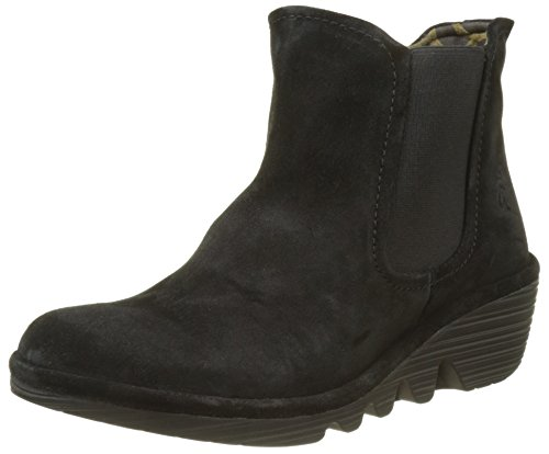 Fly London Phil, Stivali Chelsea Donna Nero (Black)