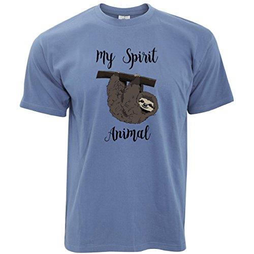 Für T-shirts Nette Männer (Tim And Ted Mein Geist Tier ist ein Faultier Faul Sleepy Nette Hand Gezeichnete Lustige Herren T-Shirt)