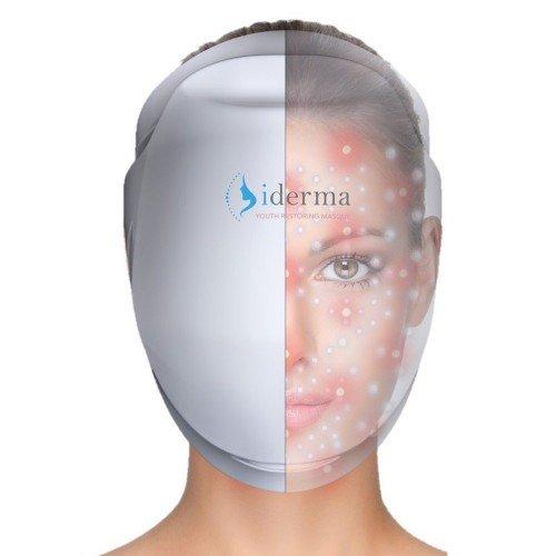 Laser-therapie (iDerma Anti-Aging Laser Therapie Maske|Lichttherapie gegen Falten & Linien|142 Infrarot Laser LED Lichter zur Faltenbekämpfung)