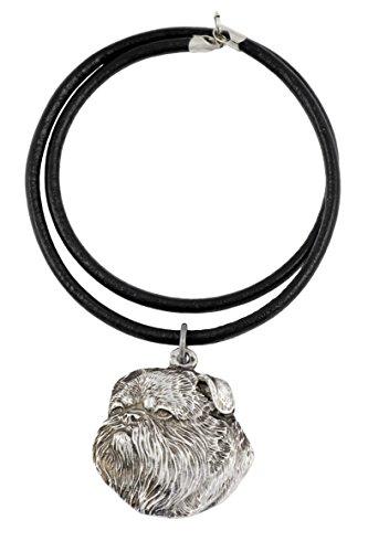 Griffon, Silber gepunzt 925, Hund, Silber beschichtet Halskette, Limitierte Edition, Art Dog Griffin-schmuck