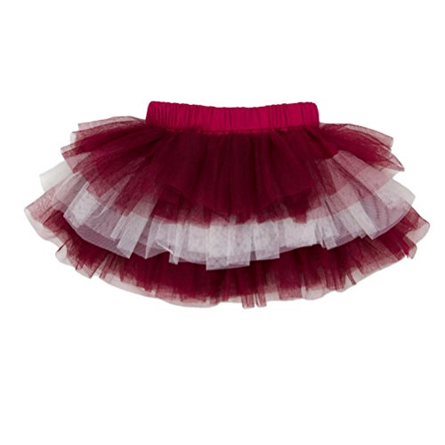 (Zhhlinyuan Kids Baby Party Princess Pettiskirts Lovely Infant Girls Multi-layers tulle Dance Tutus Skirt One Size)