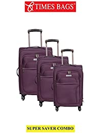 e8df1cefc Times Bags Combo of Suitcase Luggage Bags for Travel - Stylish Polyster  Expandable Trolley Bag Cabin