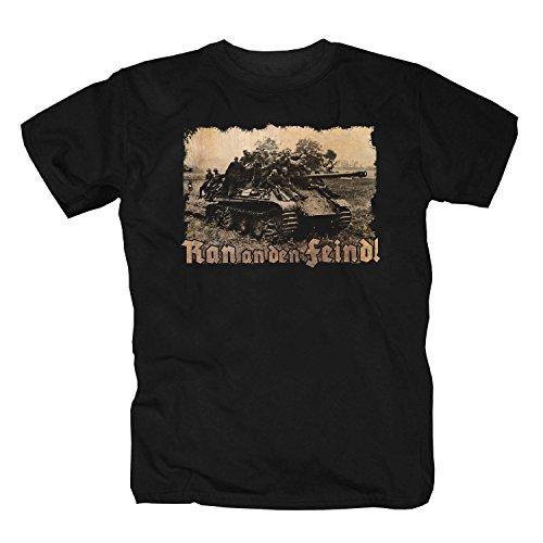 Marine Corps Militär T-shirt (Ran an den Feind T-Shirt (XXL))