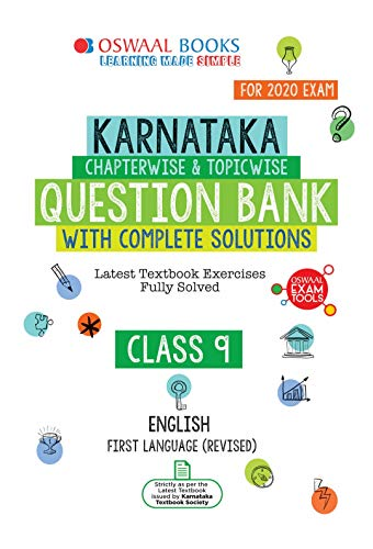 Oswaal Karnataka SSLC Question Bank Class 9 English First Language Chapterwise & Topicwise (For March 2020 Exam)