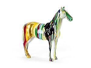 Sculpture cheval multicolore