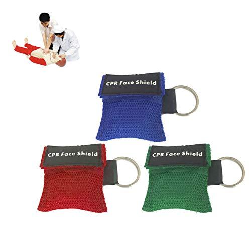 1 Stücke Tragbare Erste Hilfe Mini CPR Keychain Maske/Gesichtsschutz Barriere Kit Gesundheitswesen Masken 1-Wege Ventil CPR Maske
