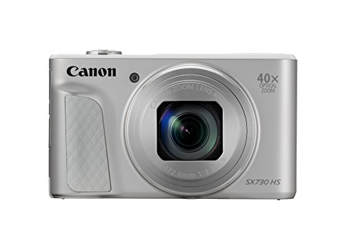 Canon PowerShot SX730 HS Digitalkamera (20,3MP CMOS-Sensor, LCD-Display, 40 fach Zoom, Full HD, WLAN/Bluetooth, 7,5 cm (3 Zoll)) silber