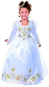 César B454-003 - Disfraz infantil de reina (8-10 años), color blanco