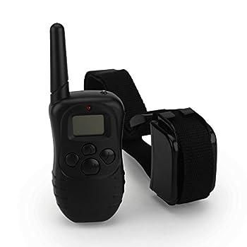 Zogin Collier de Dressage étanche rechargeable pour un Chien Collier anti-aboiement électrique d'une portée de 300m et de 100 niveaux vibration avec une LCD Télécommande numérique - 1 Collier