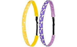 Ivybands Kids | Anti-Rutsch Haarband für Kinder | 2-er Pack | Kinderhaarband Haarreif Ähnlich | Stylische Motive Für Kid's