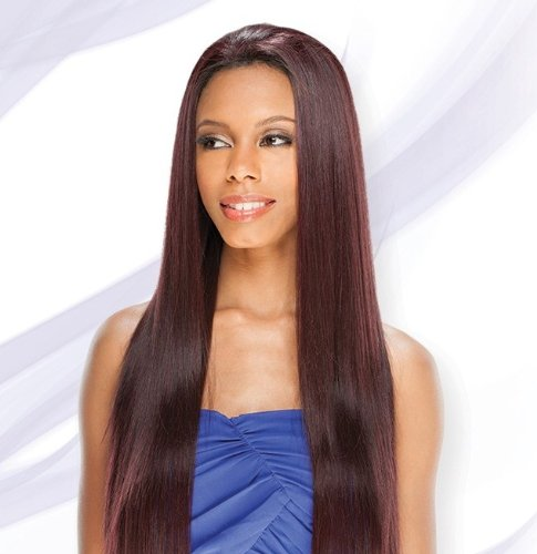 AMERIE 28'' (#P1B/30) - Shake N Go FreeTress Equal Lace Front Synthetic Hair Wig by Freetress