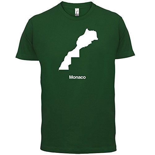 Monaco / Fürstentum Monaco Silhouette - Herren T-Shirt - 13 Farben Flaschengrün