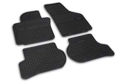 Frogum 0361 Gummimatten Auto Fußmatten Gummi Passgenau 4-teiliges Automatten Set Schwarz