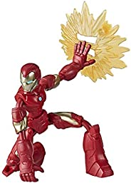 Marvel Avengers Bend And Flex Action Figure, 6-Inch Flexible Iron Man Figure, Includes Blast Accessory, Ages 6