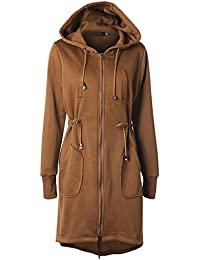 0945edca2a30d Weimilon Chaqueta Elegantes Capucha Mujer Espesor con es con Termica Joven  Largos Outerwear Jacket Invierno Abrigos