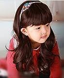royalstyle 50,8cm 50cm Kind Haar Perücke Cosplay Perücke Kinder lockig Perücke Haar Lovely Ordentlich Bang Perücke für Kinder (braun)