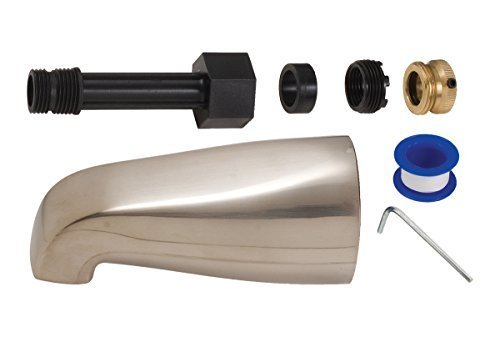 BrassCraft SW2102 5-1/8-Inch Universal Slip-On Tub Filler Spout, Pvd Satin Nickel by BrassCraft -