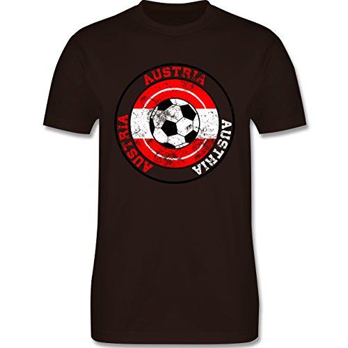 EM 2016 - Frankreich - Austria Kreis & Fußball Vintage - Herren Premium  T-Shirt