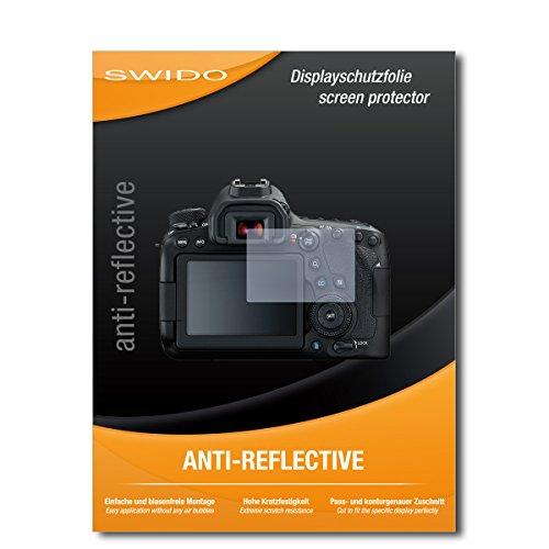 SWIDO Displayschutz für Canon EOS 6D Mark II [4 Stück] Anti-Reflex MATT Entspiegelnd, Hoher Härtegrad, Schutz vor Kratzer/Glasfolie, Schutzfolie, Displayschutzfolie, Panzerglas Folie