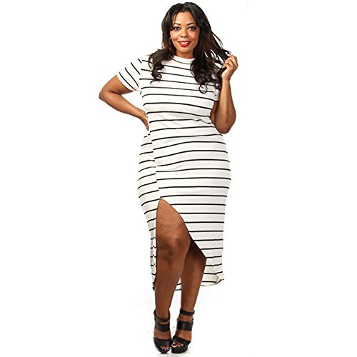 meinice-plus-size-bianco-nero-a-righe-fessura-maxi-dress-white-small
