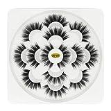WentingZWT 7 Pairs 5D Mink Soft Long Natural Thick Makeup Eyes Bleshes False Eyelashes