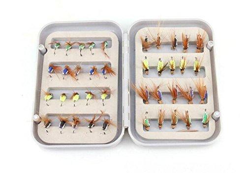 TTYY Bionischer Köder Fliegenfischen Bionic Insekt mit Feder Sea Fishing Fishing Gear 40 Stücke Anzug